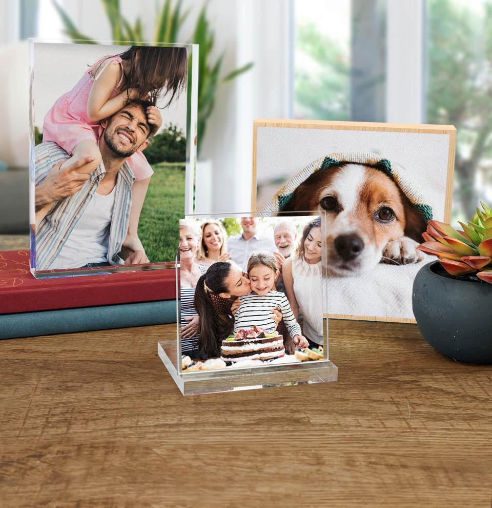 Top rated products to turn your favorite photos into awesome gifts or decor for your shelfs.
