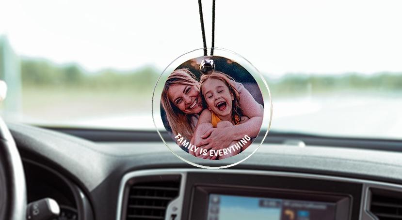 Rear View Mirror Photo Art - 6 Design Options